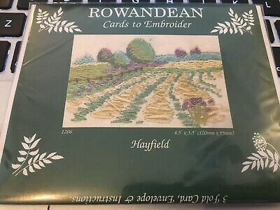 New Rowandean Cards to Embroider Embroidery Hayfield Kit