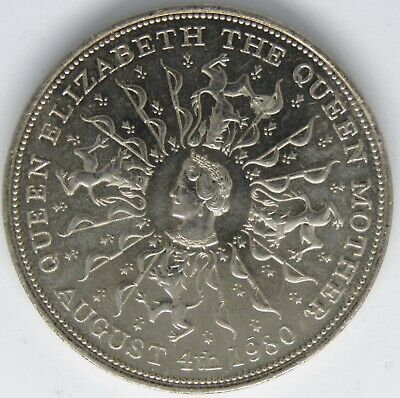 1980 Queen Elizabeth The Queen Mother 80th Birthday Coin-August 4th