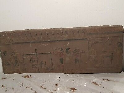 Rare Antique Ancient Egyptian Stela judgement Day God Anubis Toth 1740-1670BC