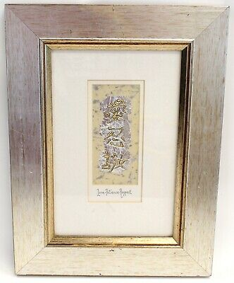"""Hand Made """"Love Patience Respect"""" Chinese Characters Foil Art In Frame - G27"""