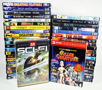 43 DVD Lot- Creature Feature, Disaster, Sci-Fi, Horror, 1950s-2000s