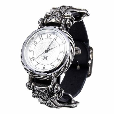 Alchemy Gothic Thorgud Ulvhammer Fine English Pewter Wristwatch - Boxed