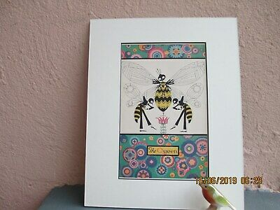 vintage Art Deco illustration of bees by Ve Elizabeth Cadie 1927