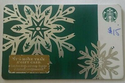 $15 Starbucks Gift Card-Physical Card- Free Shipping