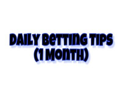1 Month Betting Tips Subscription (Tips Sent Daily)