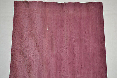 Purpleheart Wood Veneer Sheet 7.5 x 34 inches 1/42nd thick            8631-32