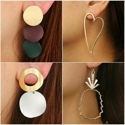Fashion Dangle Earring Women Statement Gold Plated Alloy Geometric Drop Ear Boho
