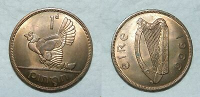 Ireland : Penny 1966 - High Grade With Beautiful Mint Lustre