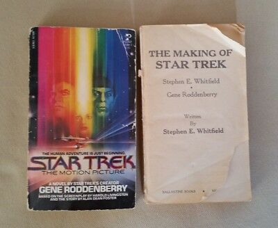 Star Trek: The Motion Picture & The Making Of by Gene Roddenberry 1979 2 books