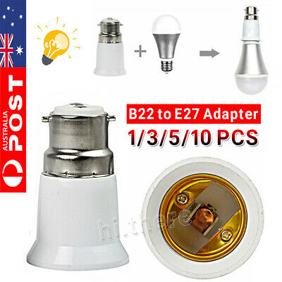 10PCS B22 to E27 Bulb Light Lamp Base Edison Screw Bayonet Converter Adapter K