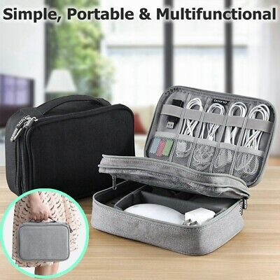 Electronic Accessories Cable Organizer Bag Travel USB Charger Storage Insert Cas