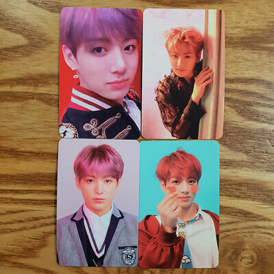 Jungkook Official Photocard 4 pcs Set BTS Love Yourself Answer Genuine Kpop