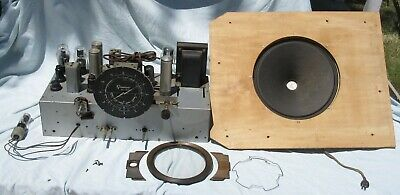 Vintage Grunow All Wave Superheterodyne 11G Tube Radio Chassis w/Factory Speaker