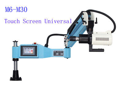 "M6-M30 Universal Electric Tapping Machine 220V Flexible Arm 4.3"" LCD Touch Scree"