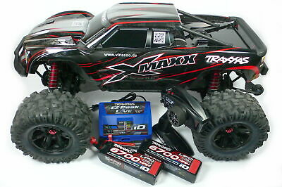 Traxxas X-Maxx 8S RTR Brushless 1/6 Rot 77086-4 Monster Truck incl. 2x 4S +Lader