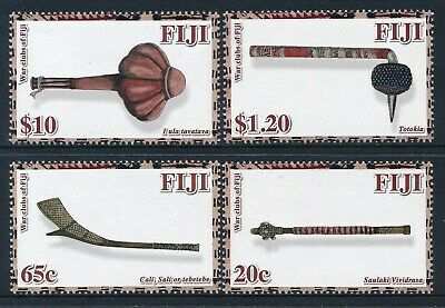 2011 Fiji War Clubs Set Of 4 Fine Mint Mnh