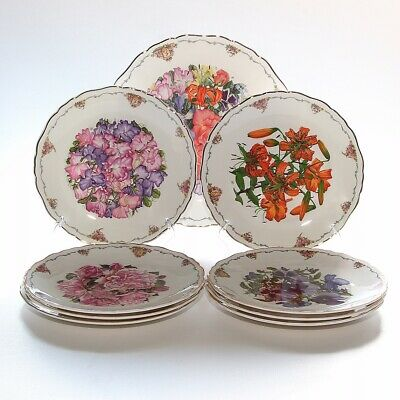 Royal Albert, The Queen Mothers Favourite Flowers, Set Of 9 Plates