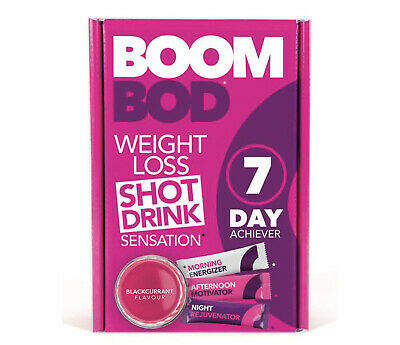 BOOMBOD 7 Day Achiever 21 Sachets Blackcurrant Flavour WORLDWIDE SHIPPING
