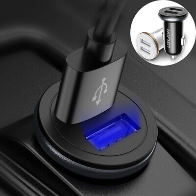 USLION Dual USB In Car Charger 2 Port High Speed Phone Charging Socket Universal