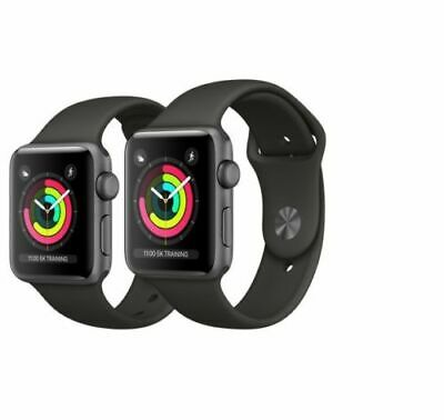Apple Watch Series 3 38mm 42mm Smartwatch Uhr Fitnesstracker Space grau silber