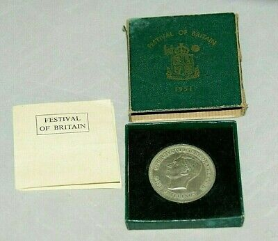 1951 FESTIVAL OF BRITAIN CROWN  - GEORGE VI - Green Box