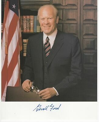 President Gerald R. Ford Signed Autographed 8x10 Colour Litho Photograph & CoA