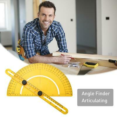 Stainless Steel 180 Degree Protractor Angle Finder Arm Measuring Ruler Tool Best