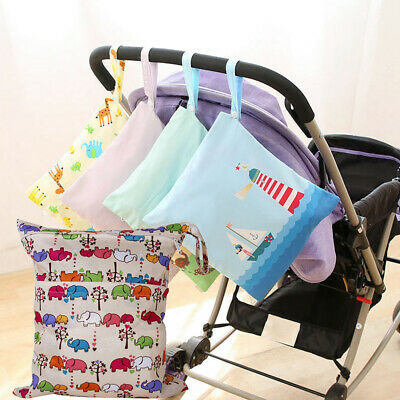 Waterproof Wet Dry Baby Bag Diaper Nappy Travel Swimming Kit Wipes Holder uk