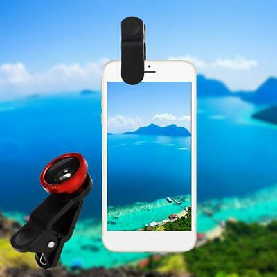 Universal 3 in1 Fisheye Wide Angle Macro Camera Lens Kit Clip On for OVV