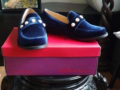 LADIES DOLCIS MICHAELLA NAVY BLUE MEMORY FOAM FLAT FLATS LOAFER SHOES UK 7