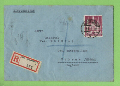 Germany (Allied Occ.) 1949 3Dm Type I (Mi99) on registered cover, SCARCE