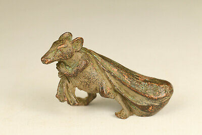 chinese old bronze hand carved lovely money mouse statue figure collectable