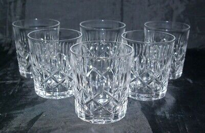 6 Waverley Crystal Edinburgh Whisky Tumbler Spirit & Mixer Old Fashioned Glasses