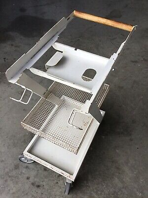 Clinic Hospital Medical Dental Stainless Steel Cart Trolley Two Layers Drawer FS
