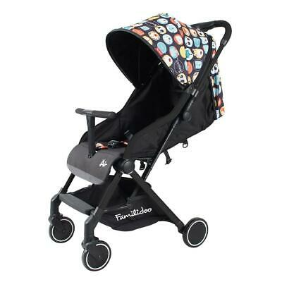 Familidoo Air Stroller (Panda) Black Chassis - Suitable From Birth