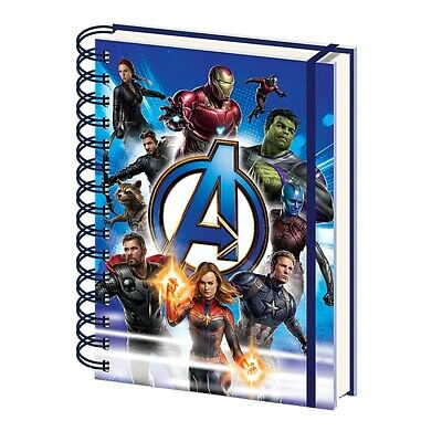 Genuine Marvel Avengers Endgame To Action A5 Hardback Journal Notebook Note Pad