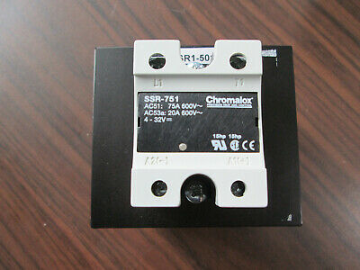 Chromalox SSR-751 Solid State Relay With SSR1-501 Heat Sink