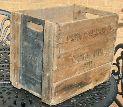 Antique HOPKINS & WILLIAMS Chadwell Heath - Chemical Manufacturers Wooden Crate