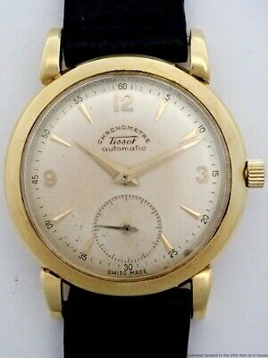Rare Art Deco Vintage TISSOT 18k Gold Chronometer Automatic Original Mens Watch