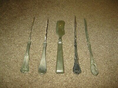Lot of 5 Vintage Antique Silverplate Master Twisted Butter Knives Spreaders