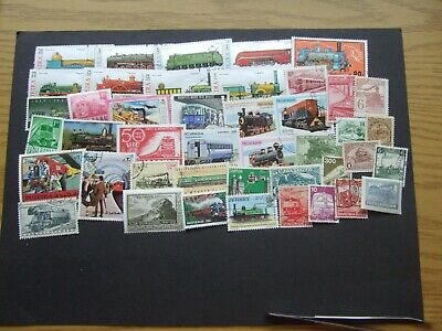 💥Thematic - 44 Train / Railway Mint & Used Stamps💥