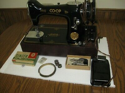 Rare RAICO CO-OP Featherweight Sewing Machine w/Case And Extras singer clone