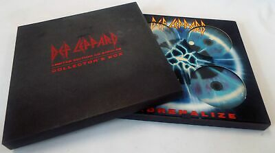 DEF LEPPARD 'Singles From Adrenalize' 4 X CD BOX Set Let's Get Rocked - E15