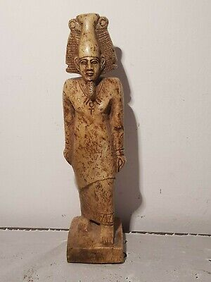 Rare Antique Ancient Egyptian Statu God Osiris Under Ground Judgement1850-2770BC