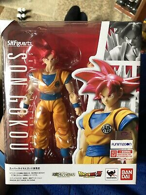 SH Figuarts Super Saiyan God Son Gokou. Dragon Ball Z Bandai Condition Is NEW