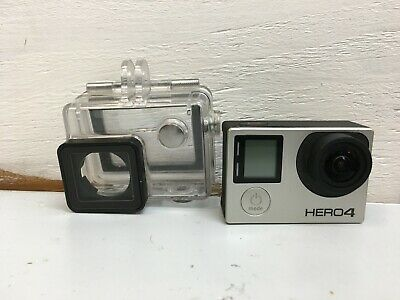 GoPro Hero 4 Silver Edition Camcorder CHDHY-401 Touch Screen Silver w/extra bats