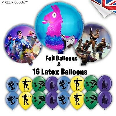 Gamer Latex & Foil Balloons Pack (19 pcs) - fillers, favours, supplies, Loot