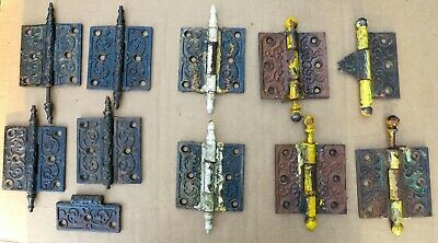 LOT OF ORNATE IRON STEEPLE & BALL TOP PIN HINGES c1890s EARLY 1900s
