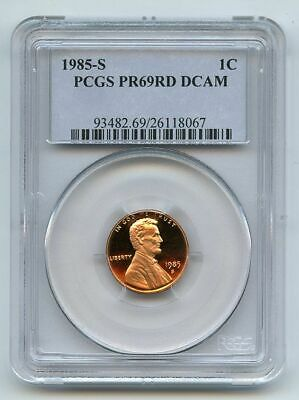 1985 S 1C Lincoln Cent Proof PCGS PR69DCAM