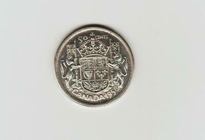 1958 Canada silver fifty cents UNC